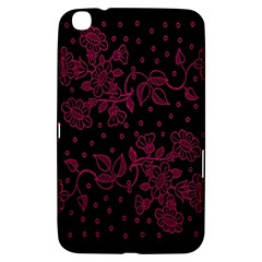 Pink Floral Pattern Background Wallpaper Samsung Galaxy Tab 3 (8 ) T3100 Hardshell Case