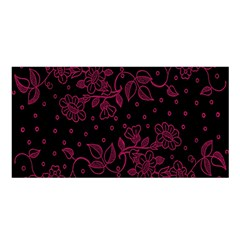 Pink Floral Pattern Background Wallpaper Satin Shawl by Nexatart