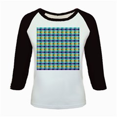 Pattern Grid Squares Texture Kids Baseball Jerseys