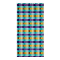 Pattern Grid Squares Texture Shower Curtain 36  X 72  (stall)