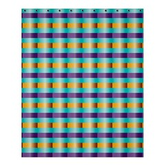 Pattern Grid Squares Texture Shower Curtain 60  X 72  (medium)  by Nexatart