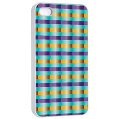 Pattern Grid Squares Texture Apple Iphone 4/4s Seamless Case (white)