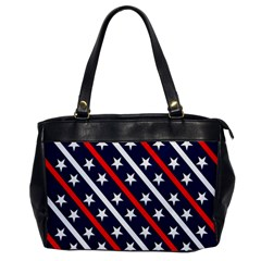 Patriotic Red White Blue Stars Office Handbags by Nexatart