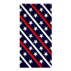 Patriotic Red White Blue Stars Shower Curtain 36  X 72  (stall)