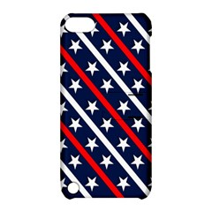 Patriotic Red White Blue Stars Apple Ipod Touch 5 Hardshell Case With Stand by Nexatart