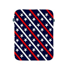 Patriotic Red White Blue Stars Apple Ipad 2/3/4 Protective Soft Cases