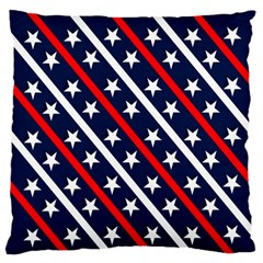 Patriotic Red White Blue Stars Standard Flano Cushion Case (two Sides) by Nexatart