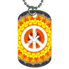 Peace Art Artwork Love Dove Dog Tag (one Side) by Nexatart
