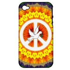 Peace Art Artwork Love Dove Apple Iphone 4/4s Hardshell Case (pc+silicone)