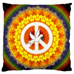 Peace Art Artwork Love Dove Standard Flano Cushion Case (one Side)
