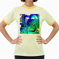 Security Castle Sure Padlock Women s Fitted Ringer T Shirts