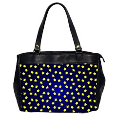 Star Christmas Yellow Office Handbags (2 Sides)  by Nexatart