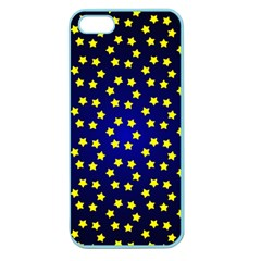 Star Christmas Yellow Apple Seamless Iphone 5 Case (color) by Nexatart