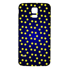 Star Christmas Yellow Samsung Galaxy S5 Back Case (white)