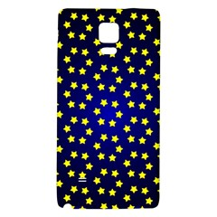 Star Christmas Yellow Galaxy Note 4 Back Case