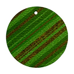 Stripes Course Texture Background Round Ornament (two Sides) by Nexatart