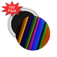 Strip Colorful Pipes Books Color 2 25  Magnets (100 Pack)