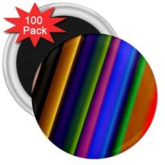 Strip Colorful Pipes Books Color 3  Magnets (100 Pack) by Nexatart