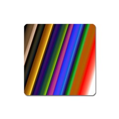 Strip Colorful Pipes Books Color Square Magnet by Nexatart