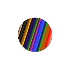Strip Colorful Pipes Books Color Golf Ball Marker (4 Pack) by Nexatart