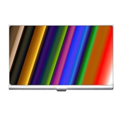 Strip Colorful Pipes Books Color Business Card Holders by Nexatart