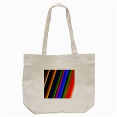 Strip Colorful Pipes Books Color Tote Bag (cream) by Nexatart