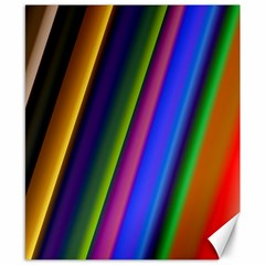Strip Colorful Pipes Books Color Canvas 8  X 10  by Nexatart