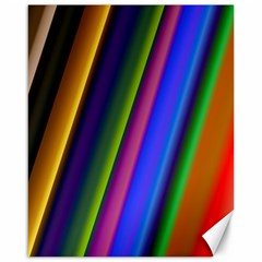 Strip Colorful Pipes Books Color Canvas 16  X 20   by Nexatart