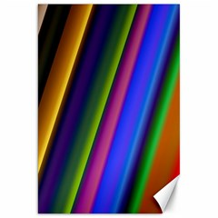Strip Colorful Pipes Books Color Canvas 20  X 30   by Nexatart