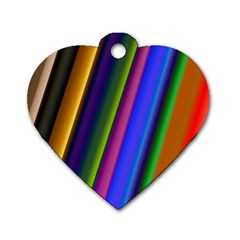 Strip Colorful Pipes Books Color Dog Tag Heart (one Side) by Nexatart