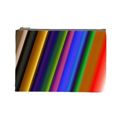 Strip Colorful Pipes Books Color Cosmetic Bag (large)  by Nexatart