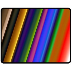 Strip Colorful Pipes Books Color Fleece Blanket (medium)  by Nexatart