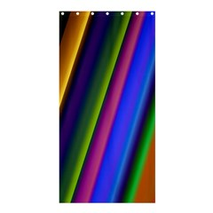 Strip Colorful Pipes Books Color Shower Curtain 36  X 72  (stall)  by Nexatart
