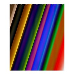 Strip Colorful Pipes Books Color Shower Curtain 60  X 72  (medium)  by Nexatart