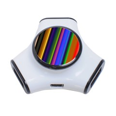 Strip Colorful Pipes Books Color 3 Port Usb Hub by Nexatart