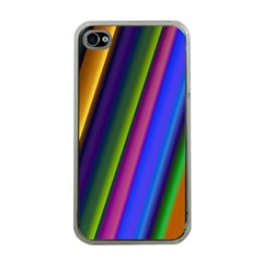 Strip Colorful Pipes Books Color Apple Iphone 4 Case (clear) by Nexatart
