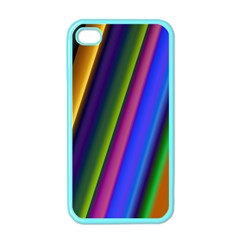 Strip Colorful Pipes Books Color Apple Iphone 4 Case (color) by Nexatart