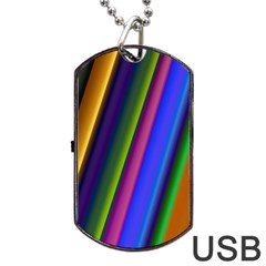 Strip Colorful Pipes Books Color Dog Tag Usb Flash (two Sides) by Nexatart