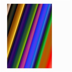 Strip Colorful Pipes Books Color Small Garden Flag (two Sides) by Nexatart
