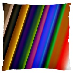 Strip Colorful Pipes Books Color Large Cushion Case (two Sides) by Nexatart