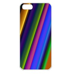 Strip Colorful Pipes Books Color Apple Iphone 5 Seamless Case (white)