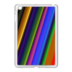 Strip Colorful Pipes Books Color Apple Ipad Mini Case (white)
