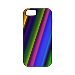 Strip Colorful Pipes Books Color Apple Iphone 5 Classic Hardshell Case (pc+silicone) by Nexatart
