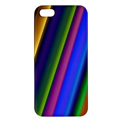 Strip Colorful Pipes Books Color Apple Iphone 5 Premium Hardshell Case by Nexatart
