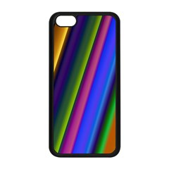 Strip Colorful Pipes Books Color Apple Iphone 5c Seamless Case (black)