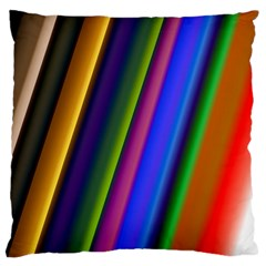 Strip Colorful Pipes Books Color Standard Flano Cushion Case (one Side)