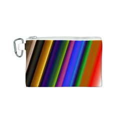Strip Colorful Pipes Books Color Canvas Cosmetic Bag (s) by Nexatart