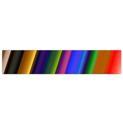 Strip Colorful Pipes Books Color Flano Scarf (small) by Nexatart