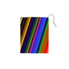 Strip Colorful Pipes Books Color Drawstring Pouches (xs)  by Nexatart