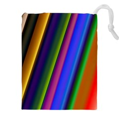 Strip Colorful Pipes Books Color Drawstring Pouches (xxl) by Nexatart